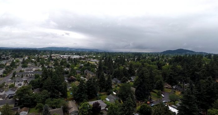 2. The upcoming and beautiful Lents Park from high above.