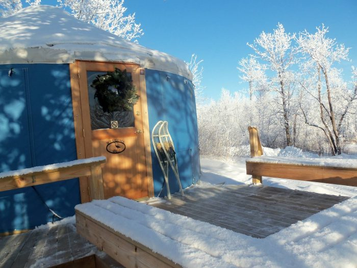 8. Stay in a yurt at Lake Metigoshe State Park