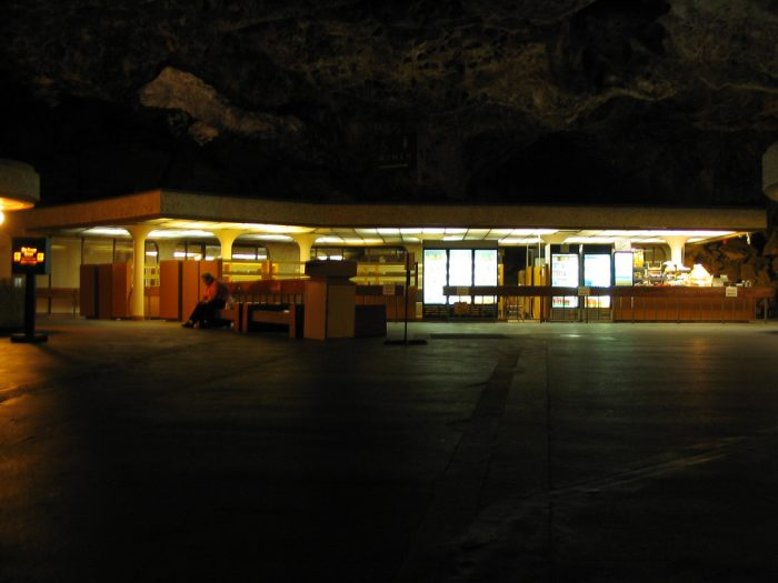 16. Anyone who has yet to visit the park is probably unaware that there is an underground lunchroom. Nowadays it mostly just sells sandwiches but, back in the days before people considered the impact on the underground ecosystem, it sold heartier meals that were cooked in the caverns. And cigars!