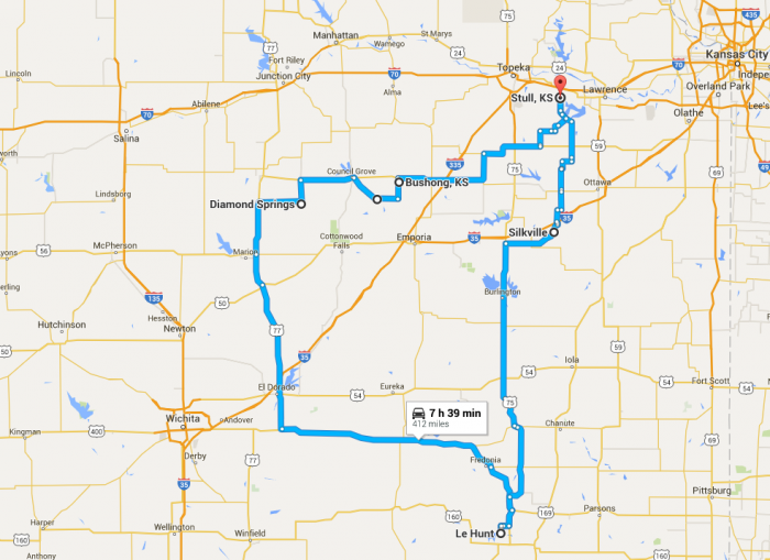 Everyone Should Take This Kansas Ghost Town Road Trip - Road map of kansas