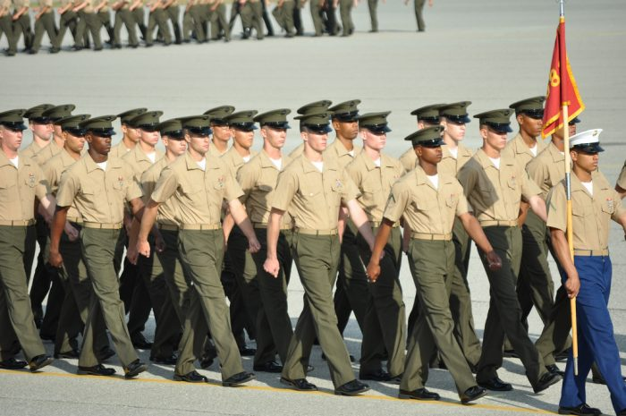 9. Parris Island, the only Marine training facility in the U.S. for women and for all men living east of the Mississippi.
