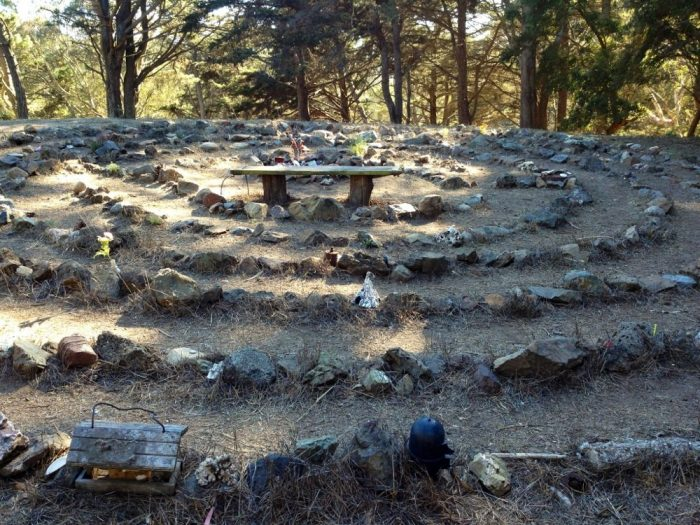 3. One of those trails is Philosopher's Way, a 2.7-mile loop with stops along the way in which one can muse over quotes, historical facts, and interesting park info. And there's even a labyrinth.