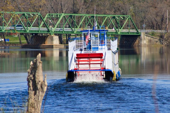 Caldwell Belle, the historic paddleboat, will give you a stunning look at the Champlain Canal.