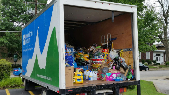 Mountain Mission Incorporated is partnering with local businesses to distribute donations to those in need.