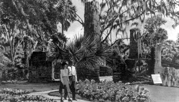 Old photographs of the Sugar Mill Gardens: