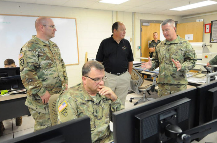 Governor Earl Ray Tomblin met with the National Guard to make a plan for disaster relief.