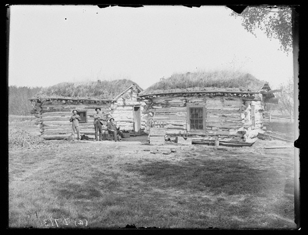 Two log buildings were constructed on the site: the post office and postmaster's residence.