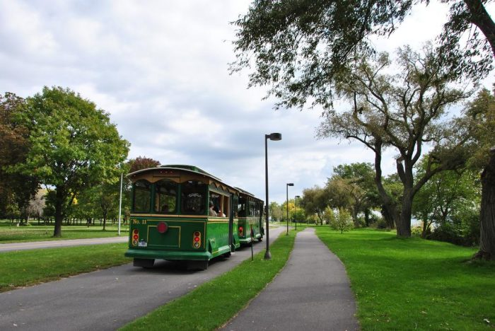 Visitors can choose to explore the park at their own pace or sit back and enjoy a ride on the Niagara Scenic Trolley.