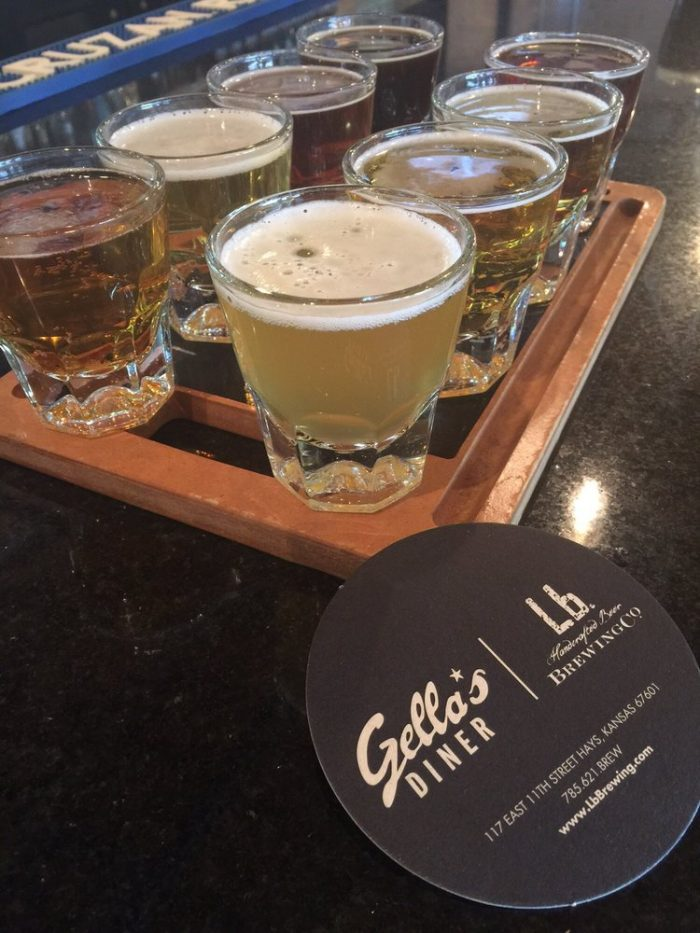 1. Lunch and brews at Gella's Diner & Lb. Brewing Co..