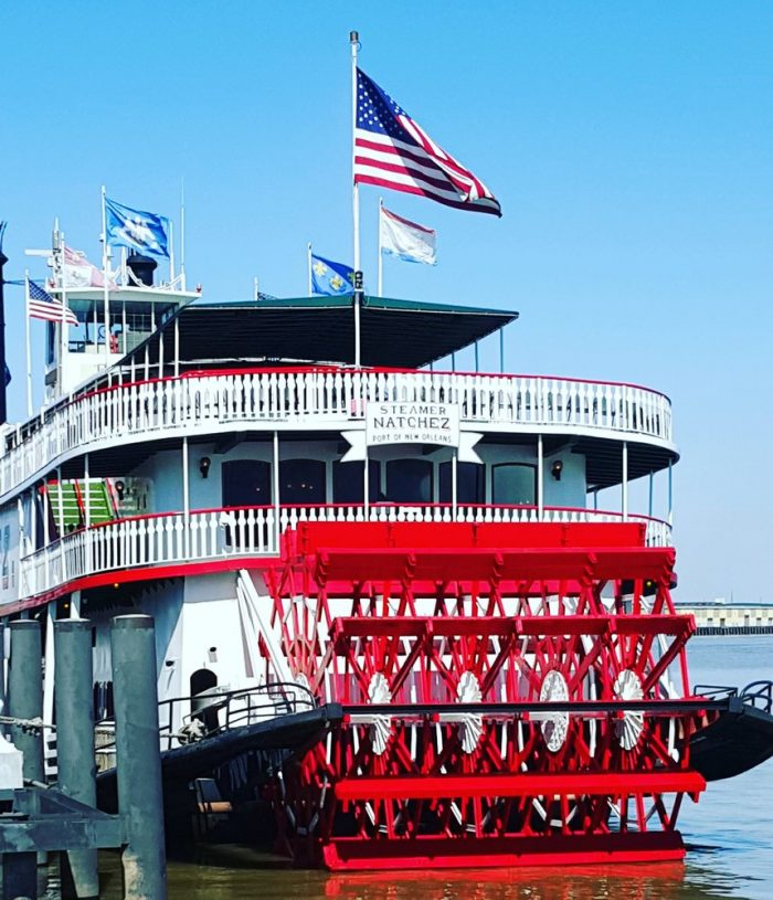 7) Steamboat Natchez, Toulouse St. & Mississippi River