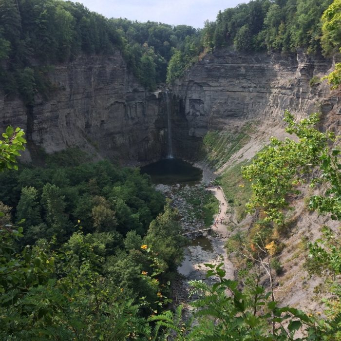 To get to the base of Taughannock Falls, you'll take the Gorge Trail, a 3/4 mile easy walk that any adventurer will enjoy.