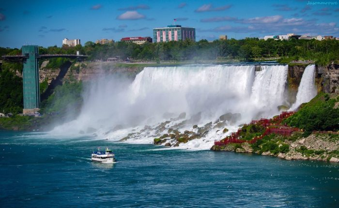 That's right! First discovered in 1678 by a French explorer, the beautiful falls were established as a reservation back in 1885.