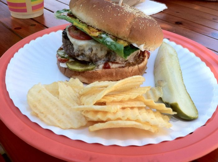 6. The 7-Napkin Burger at Owls Head General Store in Owls Head