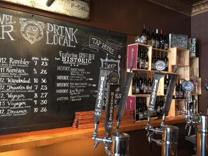 13. Get a pint or a glass of vino at the Grand Canyon Wine Company's tasting room.