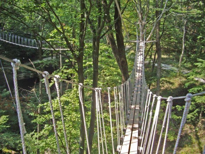 1. Ohio: Hocking Hills Swinging Bridge