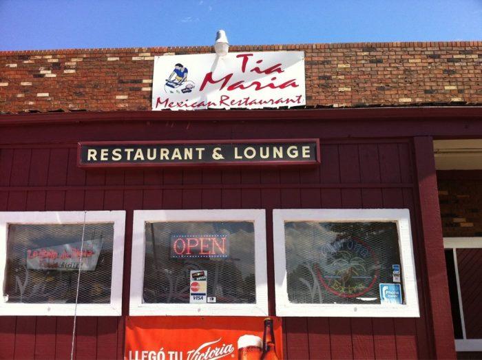 2. Tia Maria Mexican Restaurant, 7260 Pecos St.