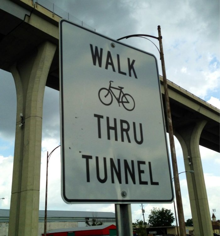 But the strangest thing about this tunnel—is that you can walk across it if you like!