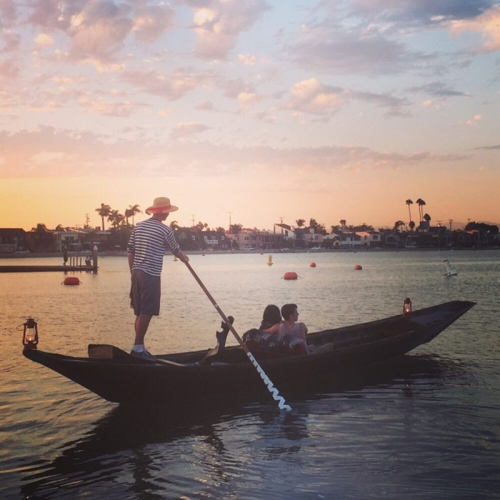 6. A gondola ride at sunset at Naples Island in Long Beach is a wonderful way to sweep someone off their feet.