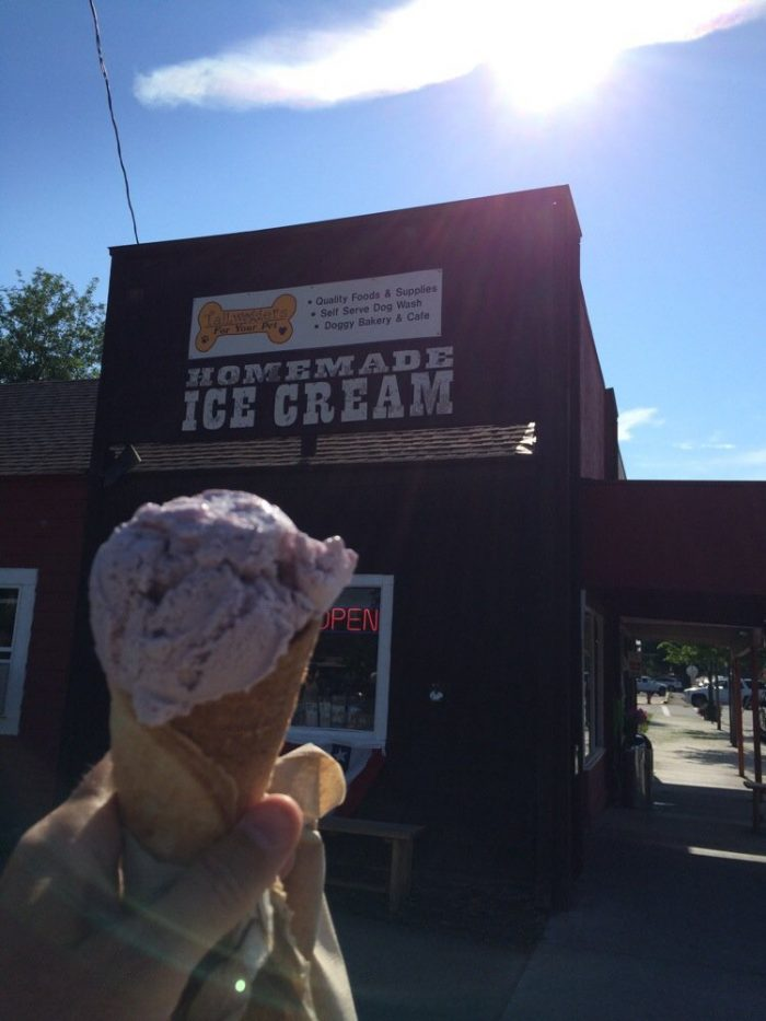 14.  Ice cream from Sweet Peaks in Whitefish.