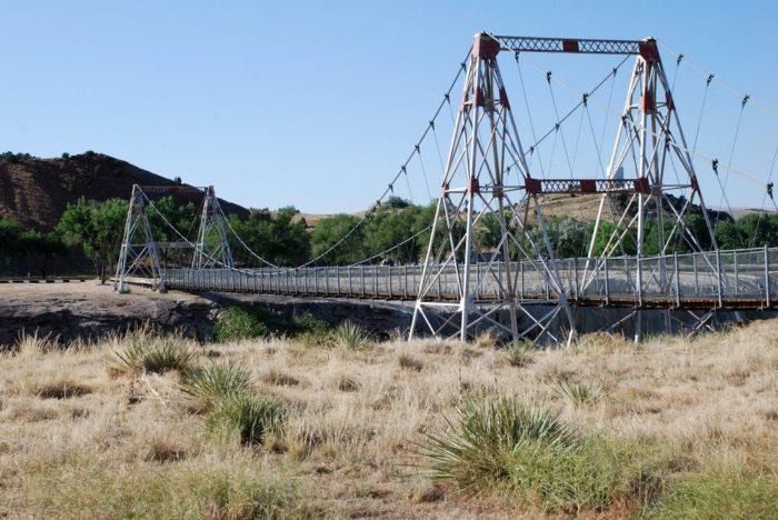 15. Wyoming: Thermopolis Swinging Bridge