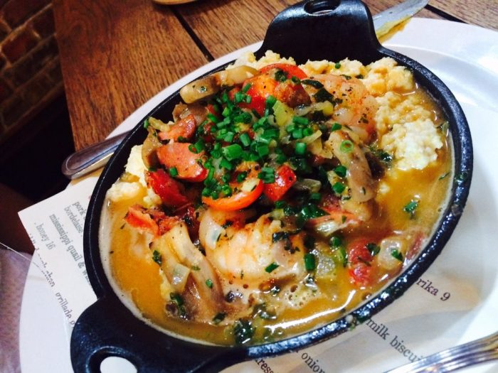 6. Shrimp and Grits from Restaurant Cotton, 101 N. Grand St., Monroe, LA