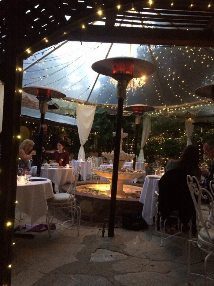 4. Dining under a tent of lights at the romantic Inn of the Seventh Ray will be a magical evening to remember.