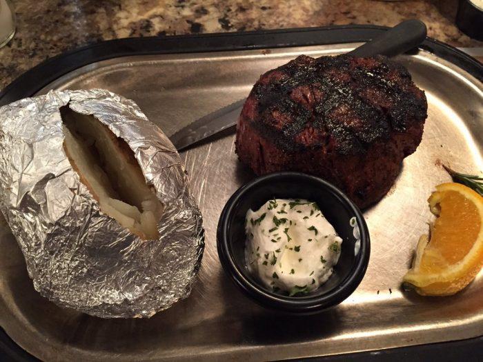 7. A steak from the Land of Magic Dinner Club in Manhattan.