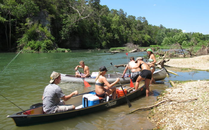 3. Floating the Illinois River is on everyone's Facebook timeline.