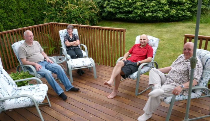 10. Friends and family gather for long summer nights on the porch.