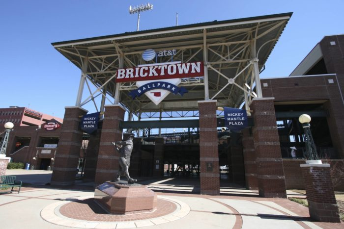 9. The 1998 opening of the Chickasaw Bricktown Ballpark in downtown Oklahoma City's Bricktown Entertainment District.