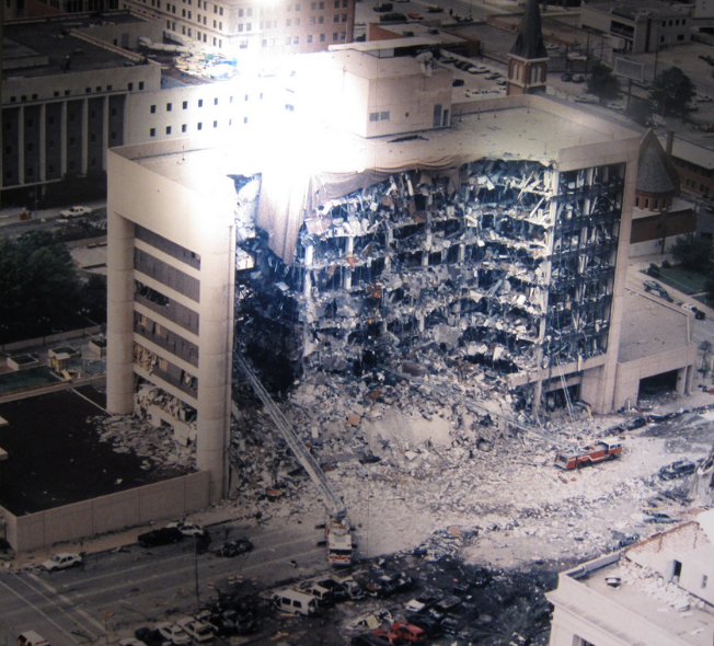 1. The 1995 bombing of the Alfred P. Murrah Building in Oklahoma City.