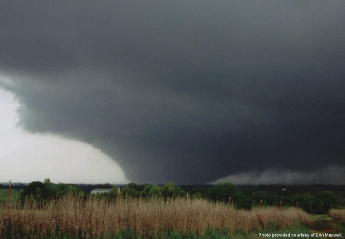 4. The only F5 tornado in Oklahoma in the 1990s - May 3, 1999 in Moore, Oklahoma City and Bridge Creek.