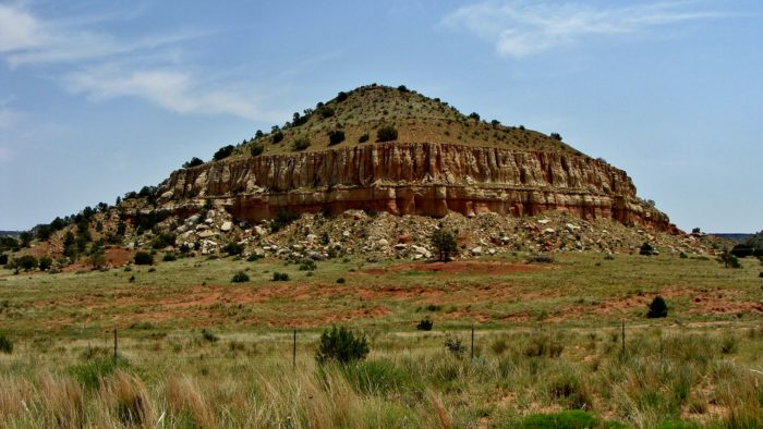 Black Mesa is named from the layer of black lava rock that coated the mesas from years ago.