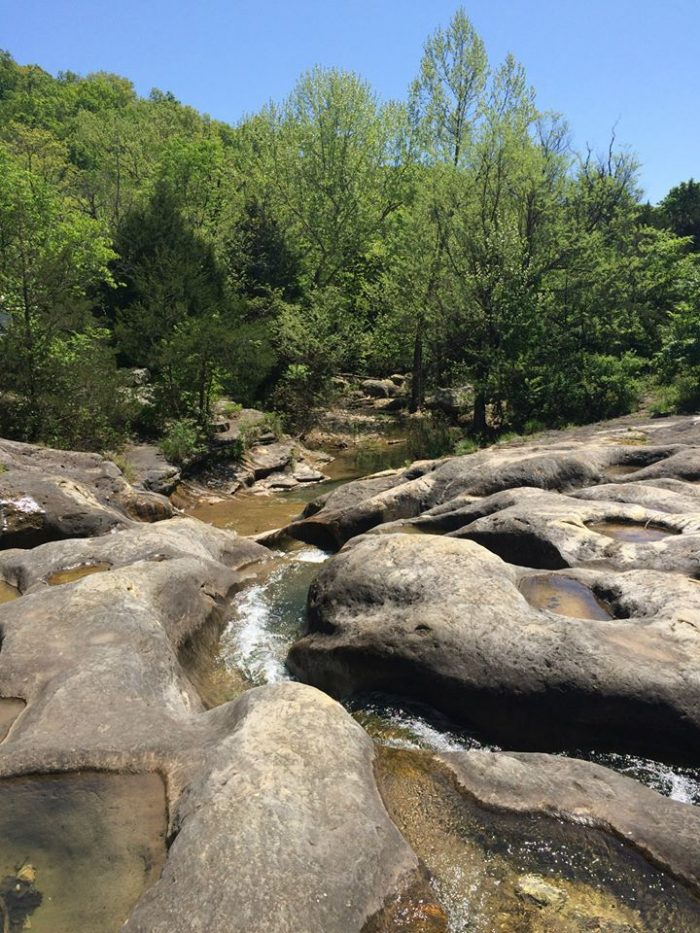 """The J.T. Nickel Preserve is home to """"Bathtub Rock"""" -  a group of smoothed over rocks that form pools and slides."""