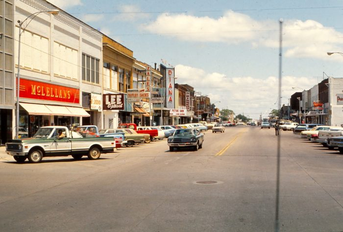 2. Downtown Lawton is filled with activity on this day in May, 1972.