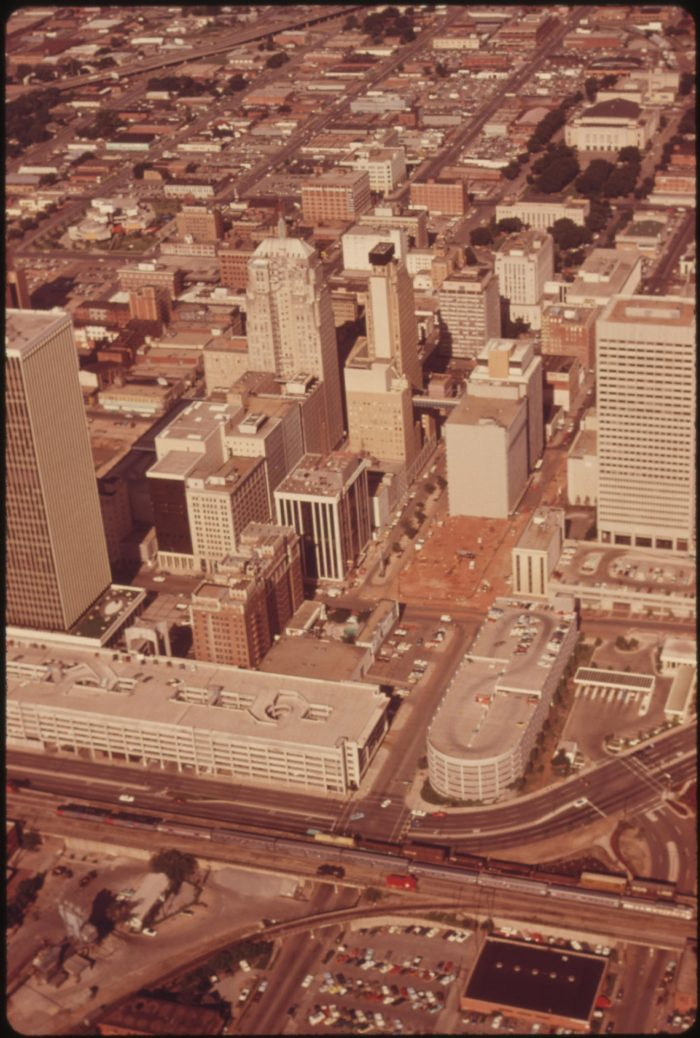 6. Downtown Oklahoma City - a growing metropolis in 1974.