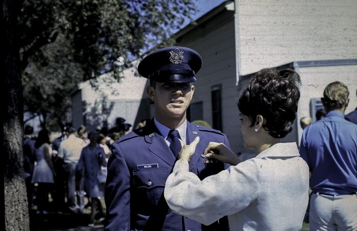 3. This young man is receiving his pilot wings from Vance AFB, 1970.