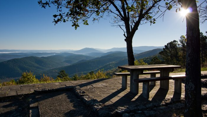 2. The scenic overlook at Winding Stair Campground and picnic area on the Talimena Scenic Drive is a spot you'll NEVER forget!