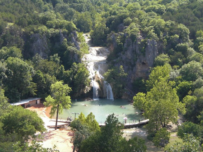 3. Admire Turner Falls from the outlook post above.