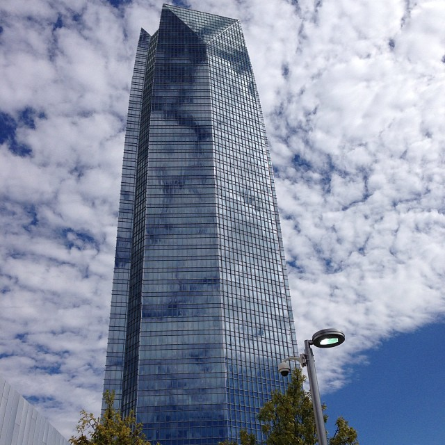 5. But if you do get stuck in Oklahoma City, head to the top of Devon Energy Tower - the tallest building in the state.