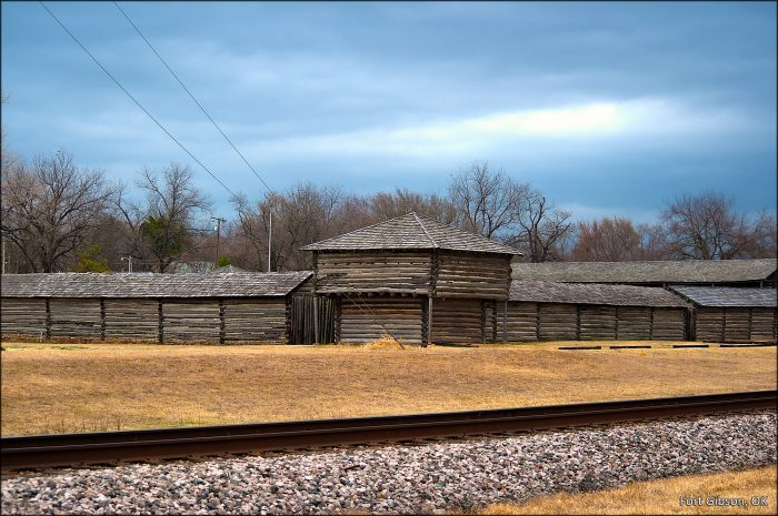 6. Behind the walls of Fort Gibson.