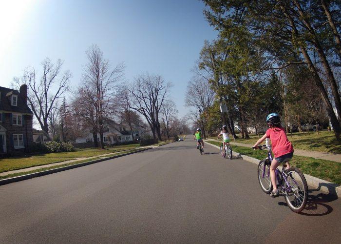 10. Bike riding around the neighborhood took place more often.