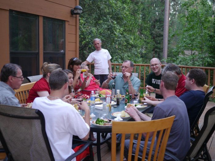 2. Family dinners weren't spent looking at cellphones, but rather engaging in conversation.