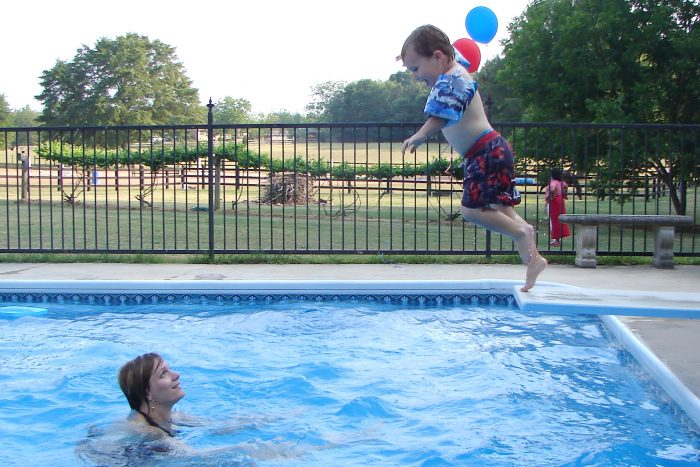 14. Swim with friends and family in the summer.