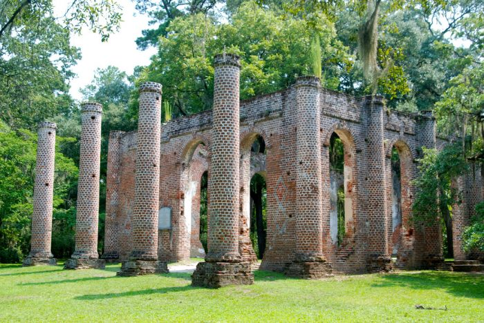 13. The cherished ruins of Old Sheldon Church in Yemassee.