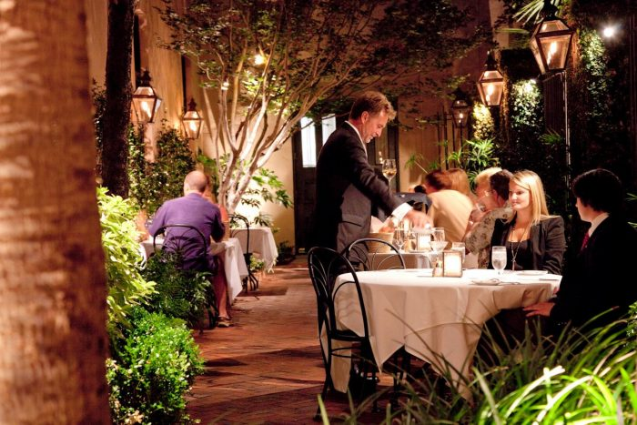 5. Splurge for an unforgettable evening dining in the courtyard of an expensive restaurant.
