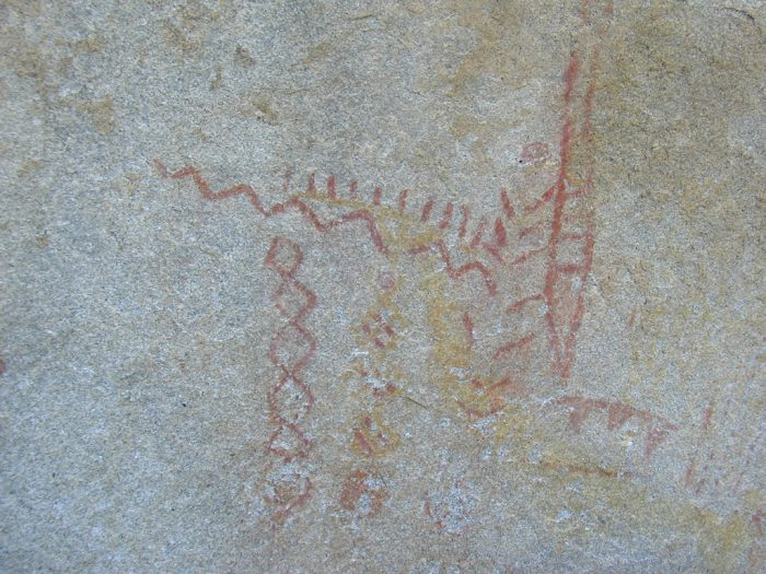 """4. We know, from pictographs in the area, that Native Americans lived on this land starting from 12-14,000 years ago. It is believed that they used the caves near the surface long before they were """"discovered."""""""