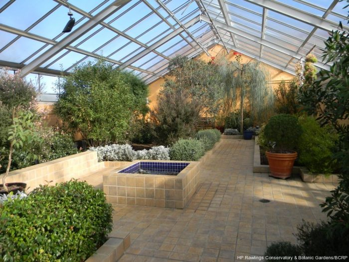 There are three other captivating greenhouses, including the Mediterranean House...