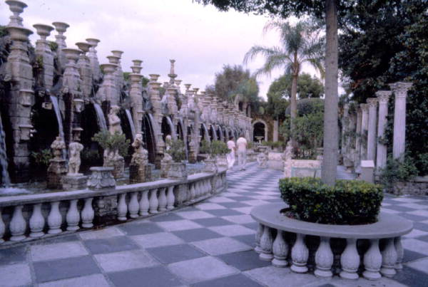 Statues and fountains