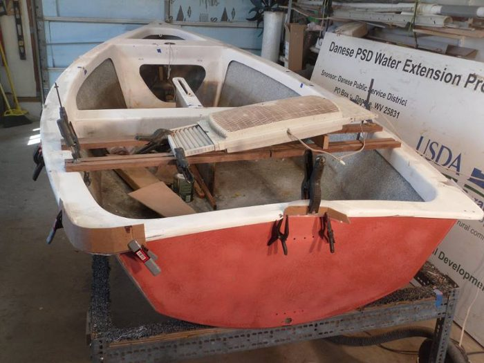 Bob restores older boats that need work, so that they'll be available for the lessons.